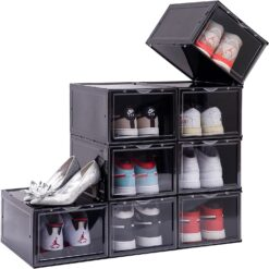 sort sneaker og skokasse