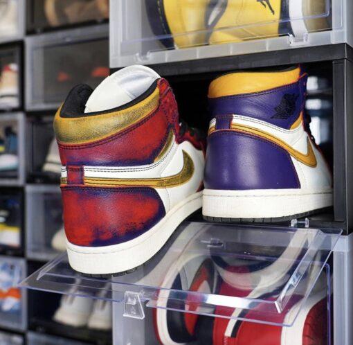 sneaker samle skobox i sort eller klar farve