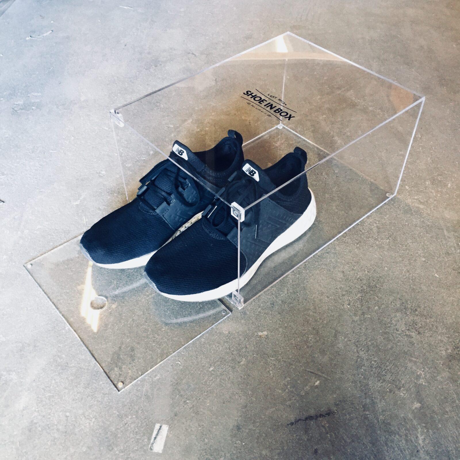 Akryl Box køb 5 stk akryl crystal clear drop off sneaker box - sneakerssupply