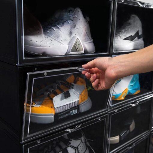 10 stk Sneaker MAGNETIC Black Drop Side Shoe box